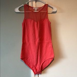 Tops - Coral sleeveless body suit